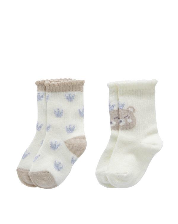 Pack 2 calze con ricamo glitter - Prénatal