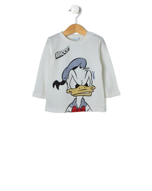 T-shirt bianca con maxi stampa Paperino - Prénatal