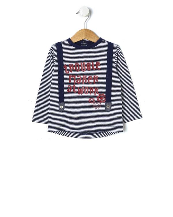 T-shirt rigata con bretelle applicate - Prénatal