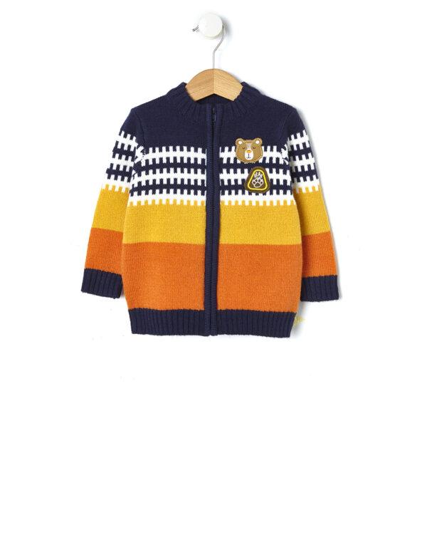 Cardigan tricot fantasia jaquard - Prénatal