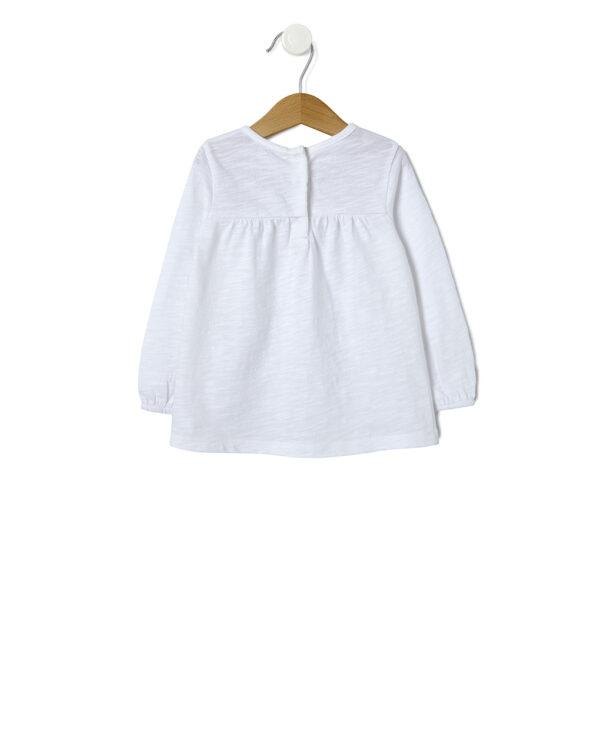 T-shirt panna con ricami fiorati - Prénatal