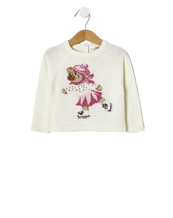 Maglia tricot con orsetto - Prénatal