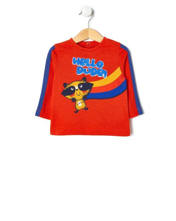 T-shirt con stampa e bande sulle maniche - Prénatal