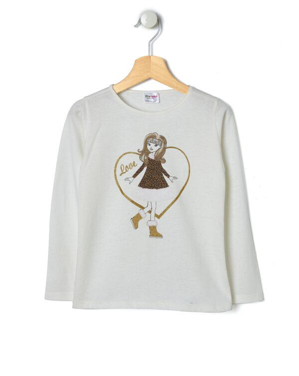 T-shirt in jersey con stampa bambina - Prénatal