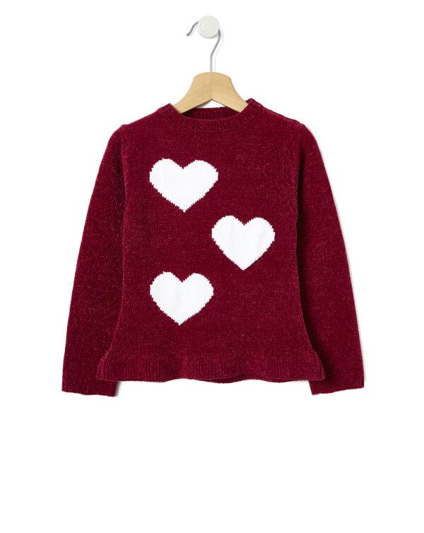 Maglia in ciniglia tricot con cuori - Prénatal
