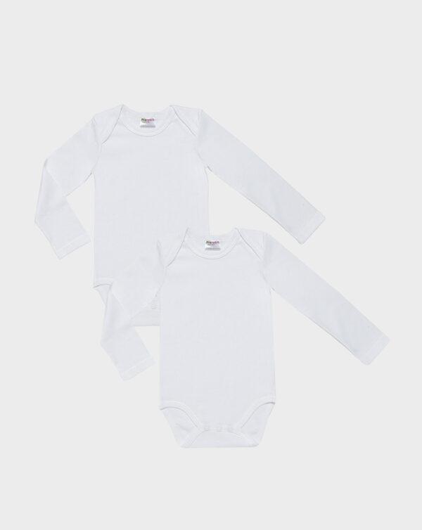Pack 2 body bianco scollo americano - Prénatal