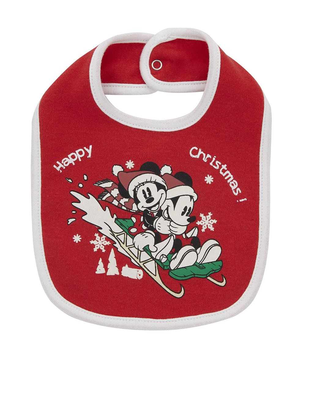 Bavaglino natalizio topolino e minnie - Prénatal