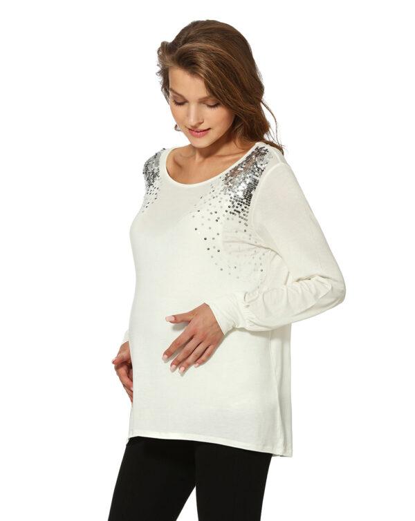 T-shirt allattamento con paillettes - Prénatal