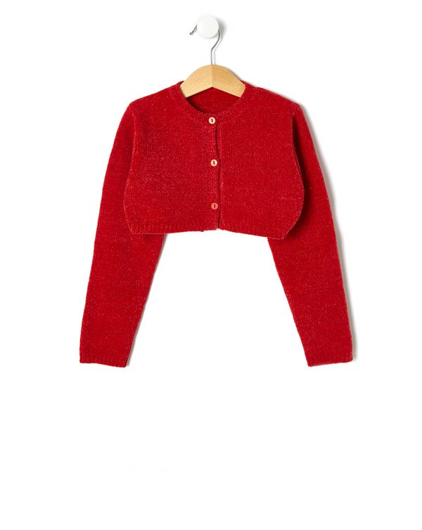 Cardigan in ciniglia rosso - Prénatal