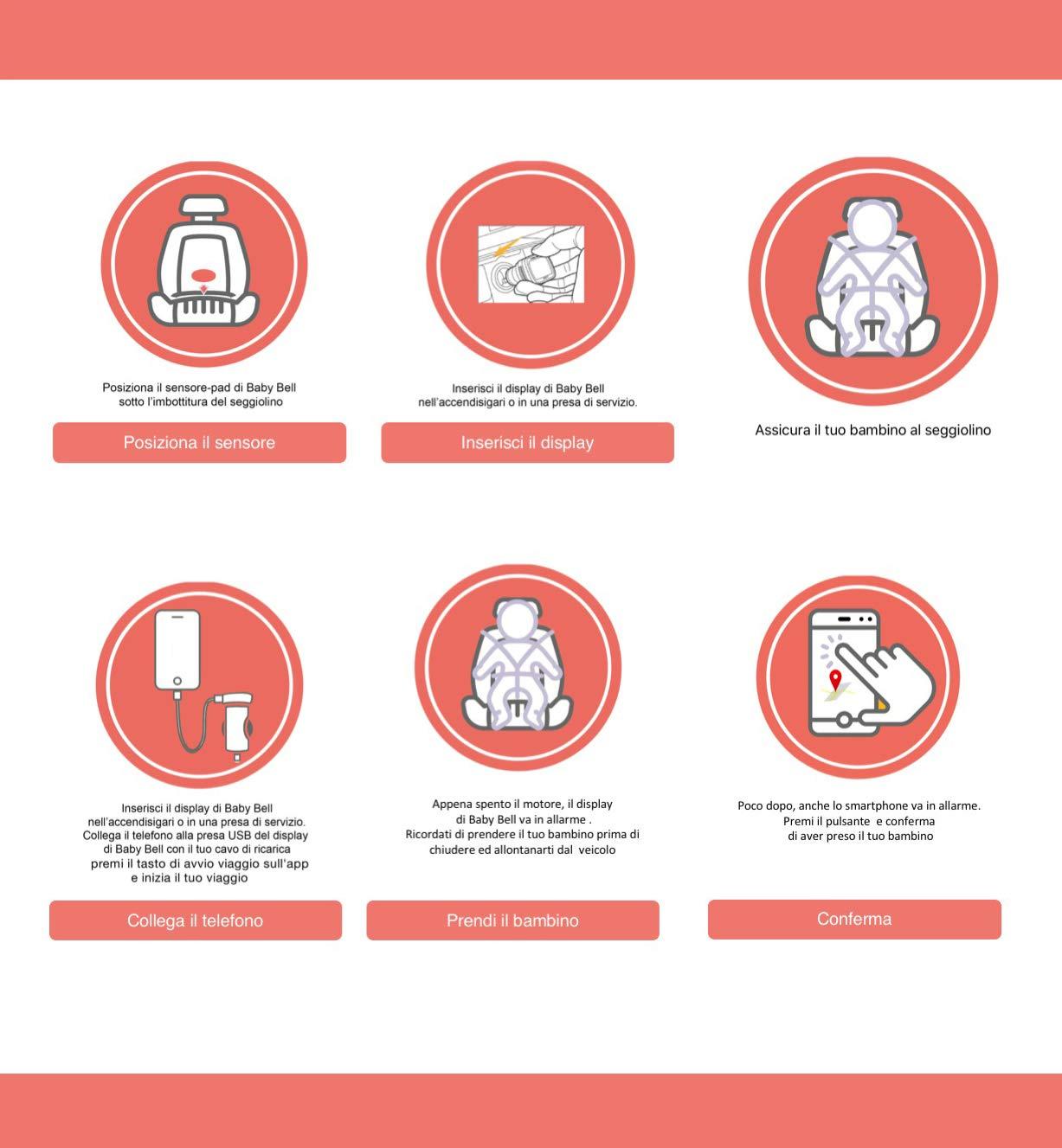Dispositivo anti-abbandono Baby Bell - Prénatal Store Online