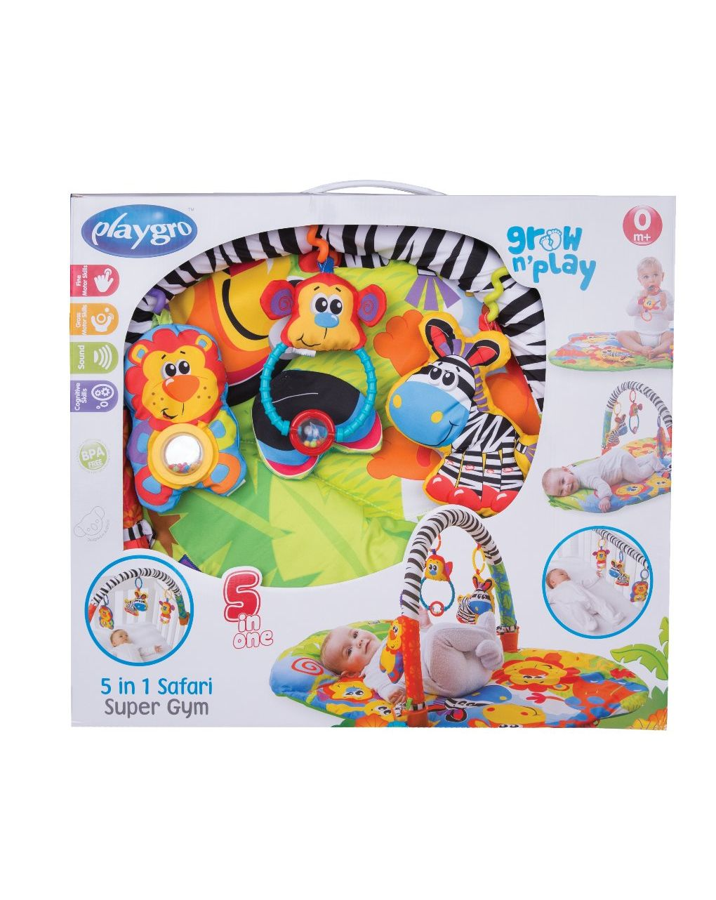 Palestrina 5in1 safari super gym (0m+) - Playgro