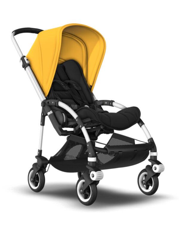 Bugaboo Bee5  telaio alluminio - tessuto nero - cappottina Sunrise Yellow - Bugaboo