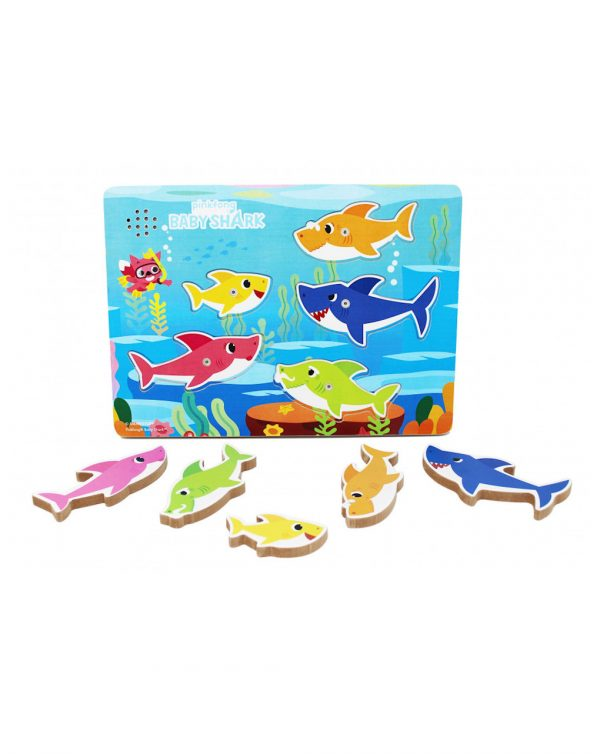 Baby Shark puzzle sonoro in legno (24m+) - Baby Shark