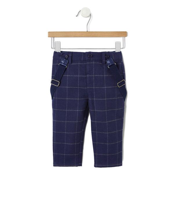 Pantalone in flanella con bretella - Prénatal