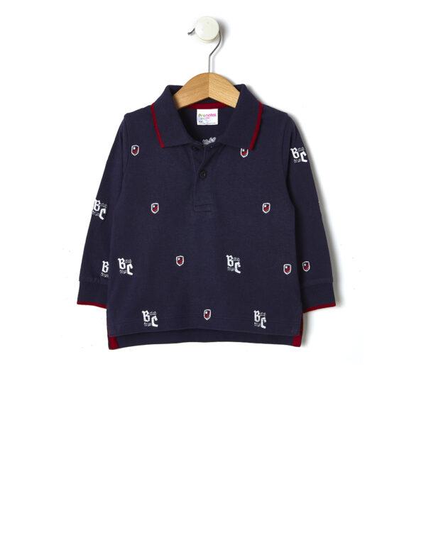 Polo in jersey con ricamo all-over - Prénatal