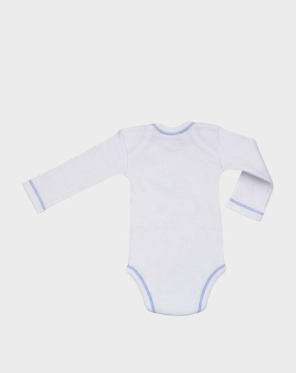 Body maniche lunghe in cotone felpato stampa animaletti - Prénatal