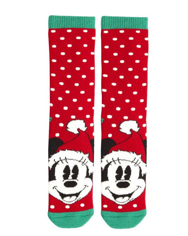 Calze antiscivolo natalizie rosse con Minnie - Prénatal