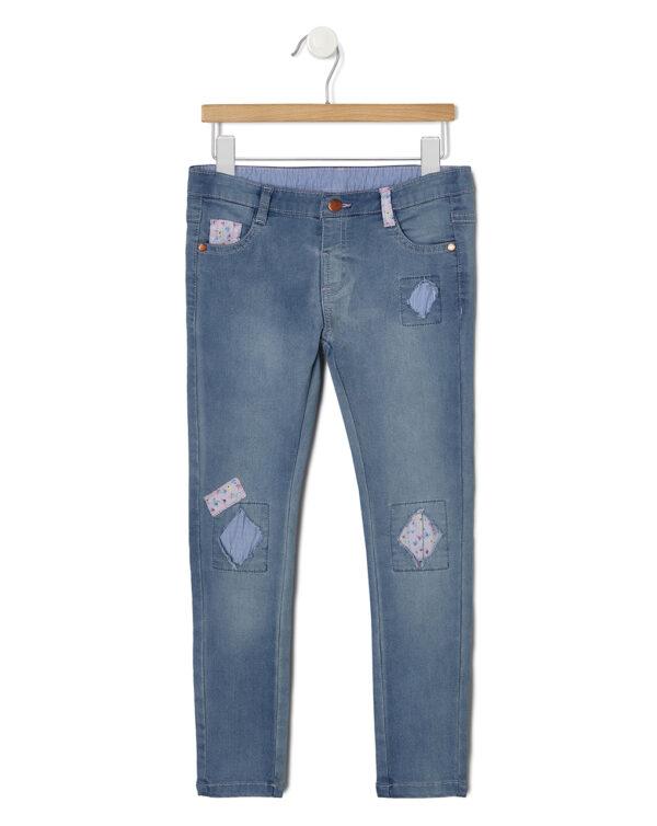 Pantaloni denim con inserti in tessuto - Prénatal