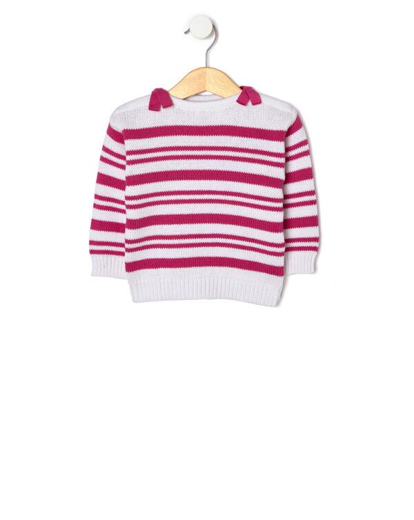 Maglia tricot rigata con fiocchi - Prénatal