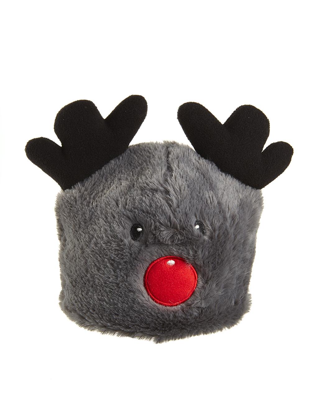 Cappello in finto pelo e corna da renna - Prénatal