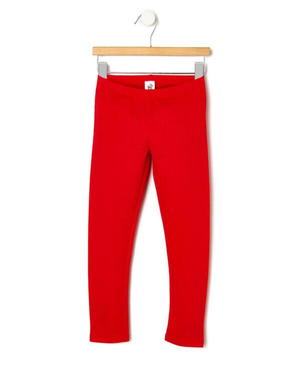 Leggings in felpa rossa - Prénatal