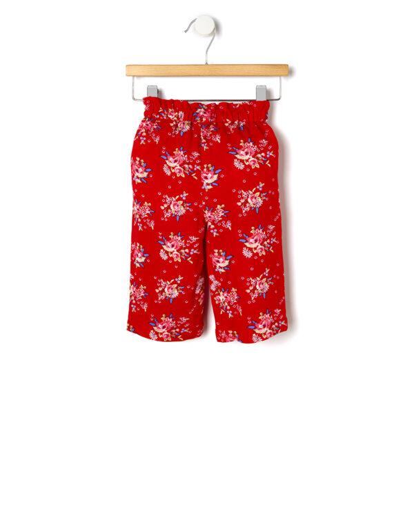 Pantalone in viscosa con stampa floreale - Prénatal