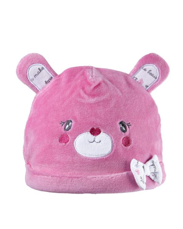 Cappello in ciniglia fucsia con orecchie - Prénatal