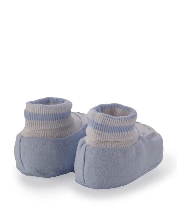Scarpe in ciniglia azzurre con orso - Prénatal