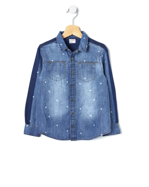 Camicia denim con stampa all-over - Prénatal