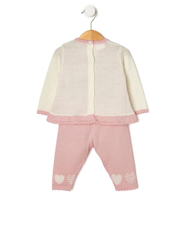 Completo in tricot rosa - Prénatal