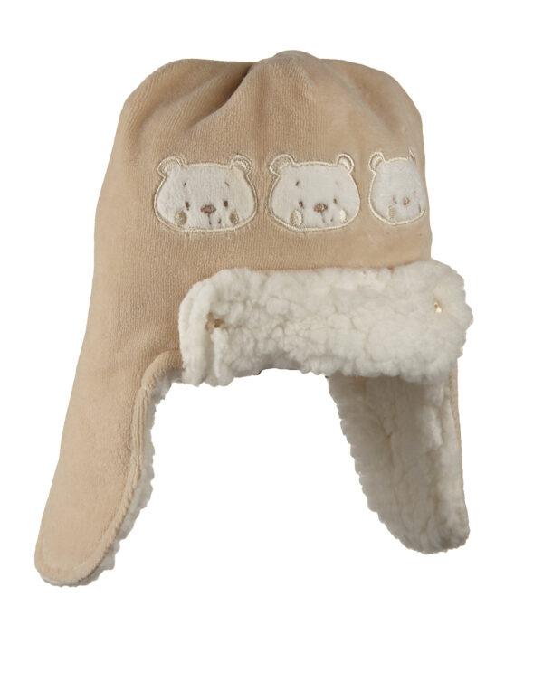 Cappellino in ciniglia con orsi - Prénatal