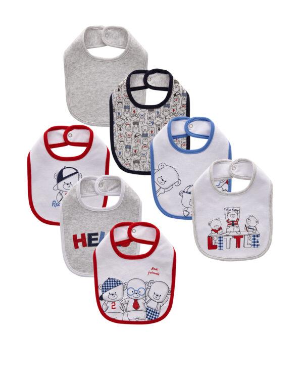 Pack 7 bavaglini interlock con stampa orsetti - Prénatal