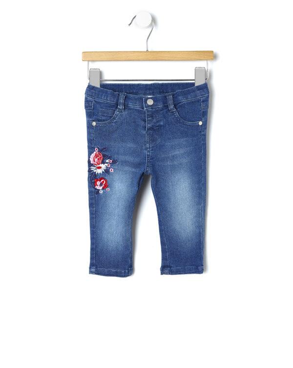 Pantalone denim con ricamo - Prénatal