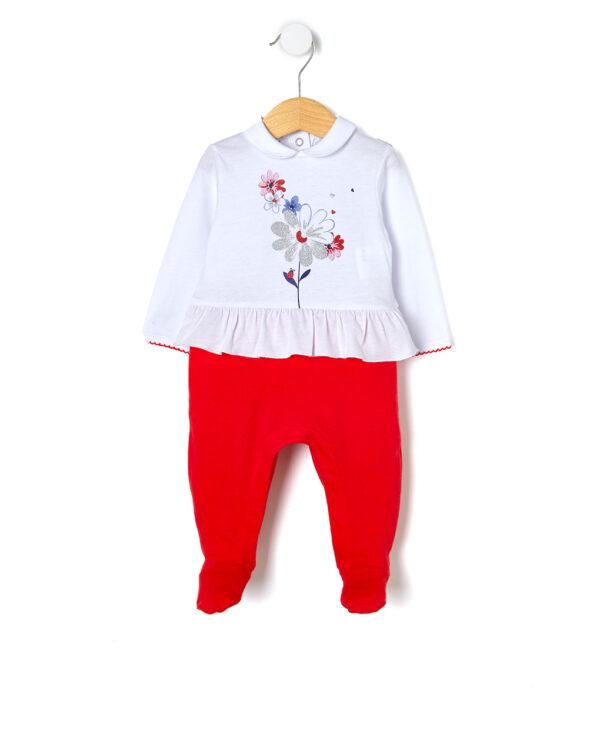 Tutina in jersey con stampa fiori - Prénatal