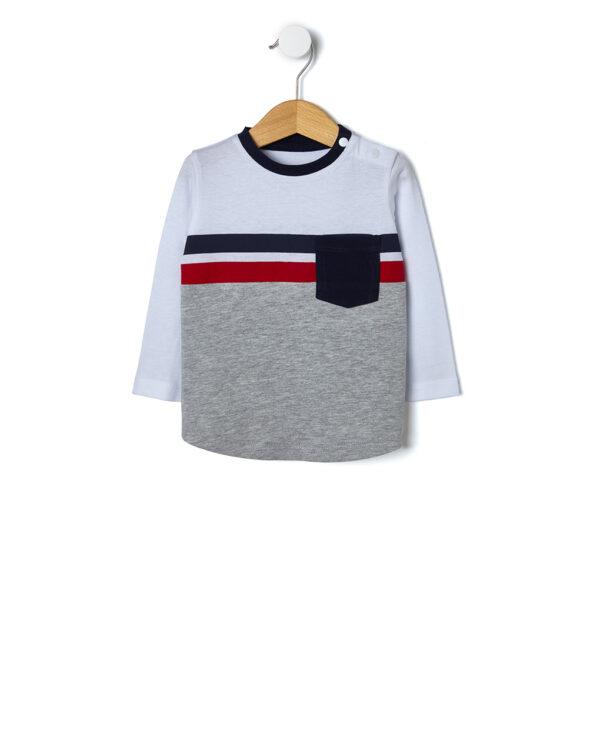 T-shirt con righe e taschino - Prénatal