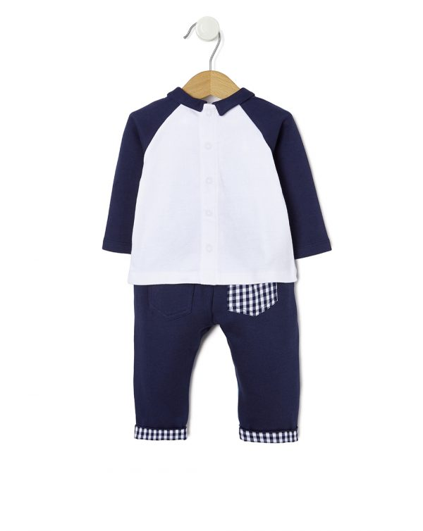 Completo interlock con pantaloni in due tessuti - Prénatal