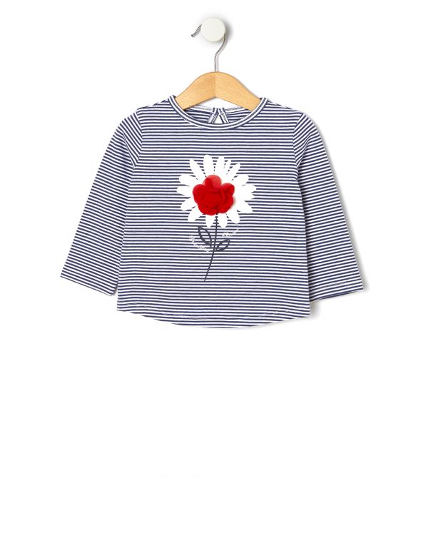 T-shirt con fiore in tulle applicato - Prénatal