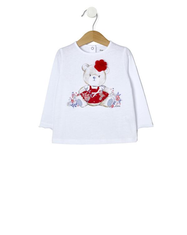 T-shirt maniche lunghe con orsetto - Prénatal