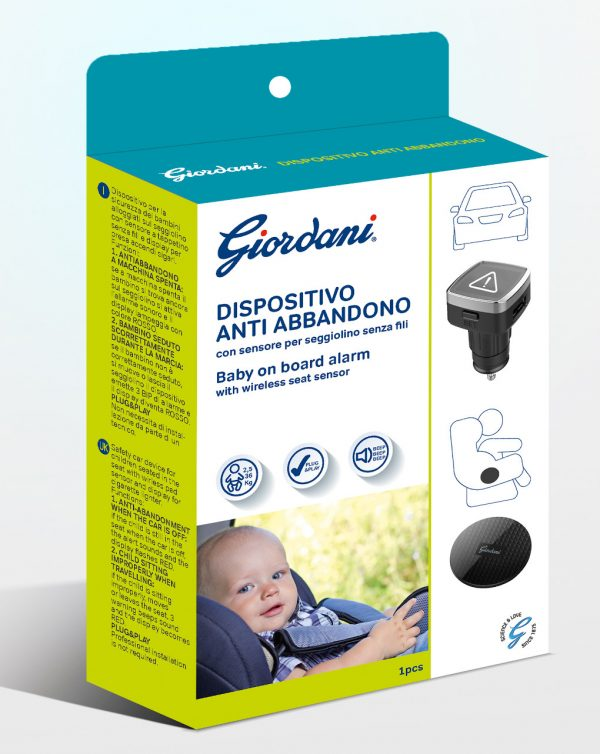Dispositivo anti-abbandono Giordani accendisigari sottochiave - Giordani