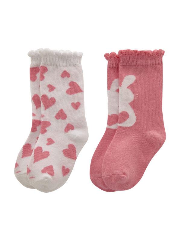 Pack 2 paia di calze con stampa coniglio - Prénatal