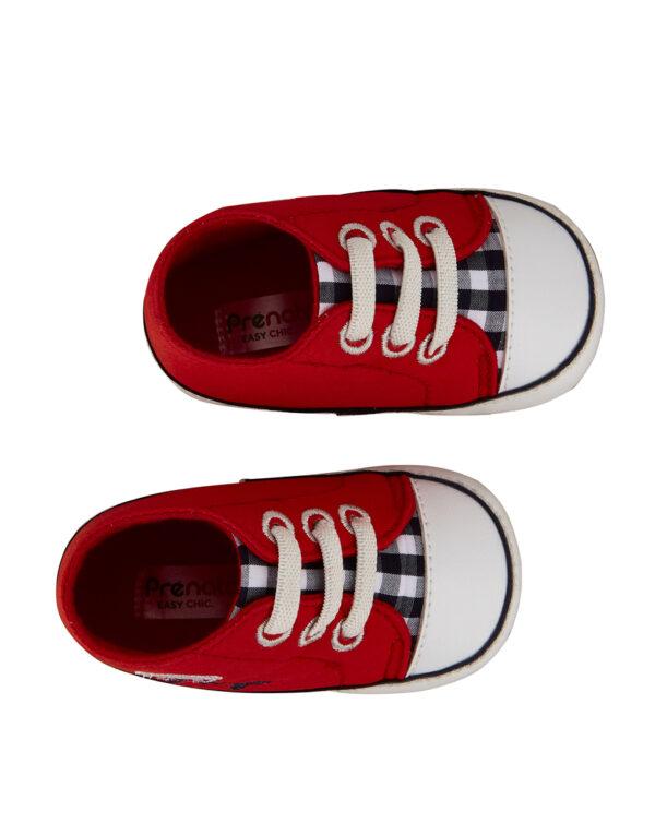 Scarpa twill rosso e blu - Prénatal