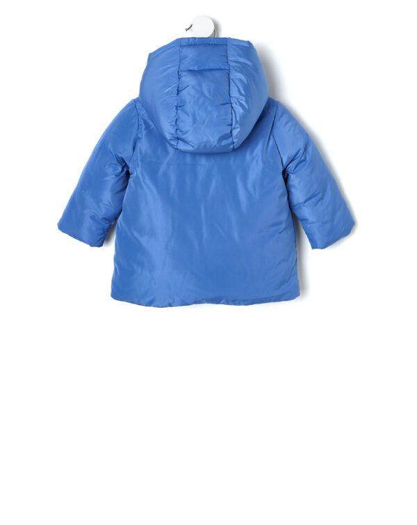Giubbino nylon azzurro con cappuccio - Prénatal