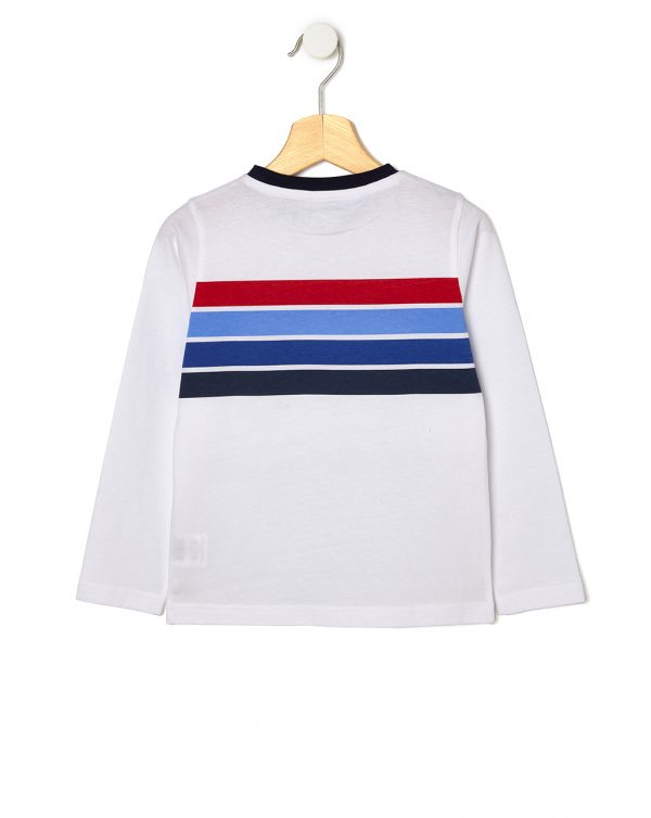 T-shirt basica con righe colorate - Prénatal