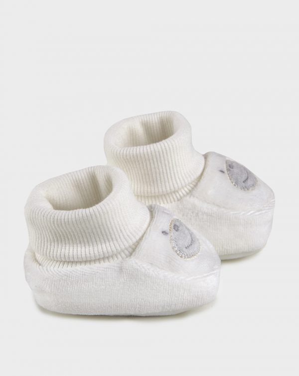 Scarpe in ciniglia panna con muso orso - Prénatal