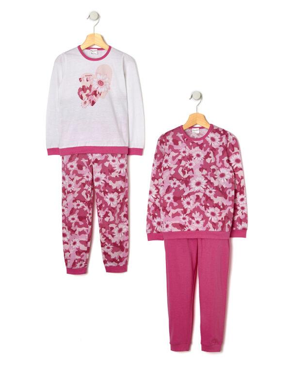 Pack 2 pezzi pigiama con stampa fiori - Prénatal
