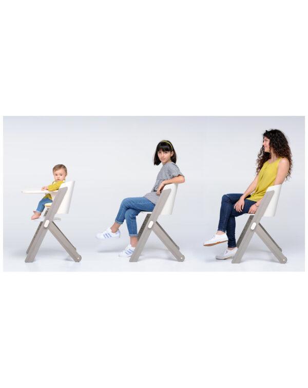 Tiramisù sedia evolutiva - grigio-sbiancato - Foppapedretti