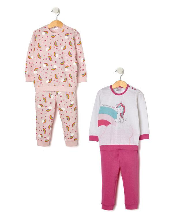 Pack 2 pigiami con stampa unicorno - Prénatal