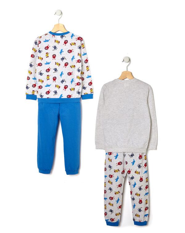 Pack 2 pezzi pigiama in jersey con stampa mostri - Prénatal