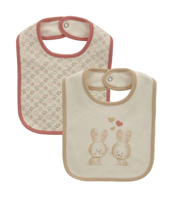 Pack 2 bavaglini interlock di cotone organico - Prenatal 2