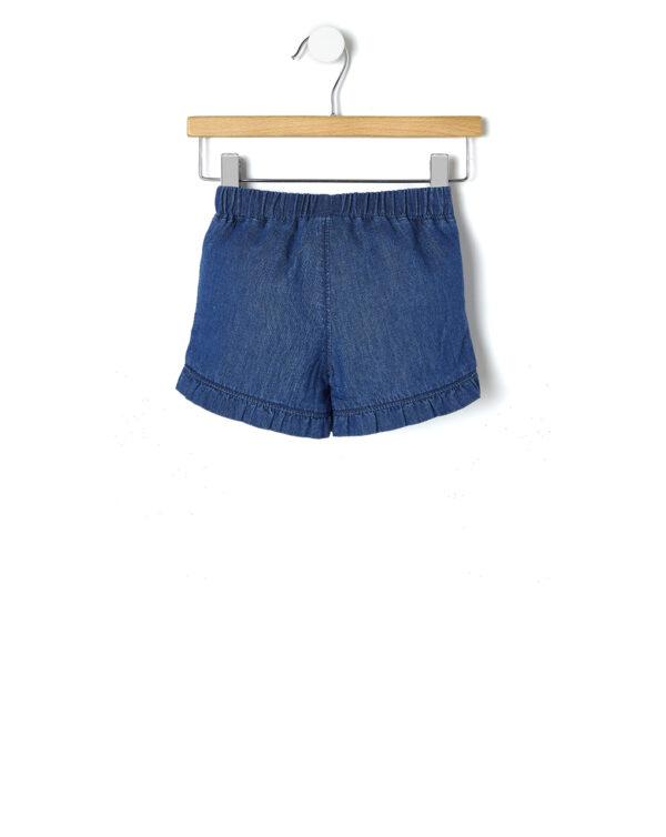 Short chambray con rouches - Prénatal